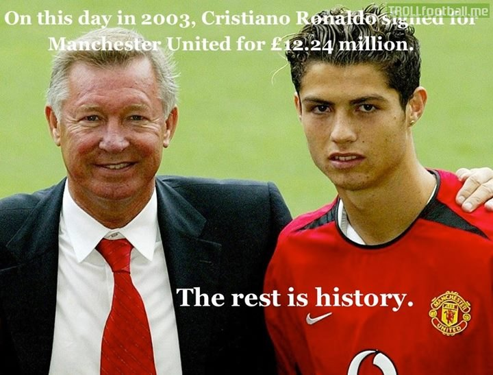 Today in history : Cristiano Ronaldo signs for Manchester United