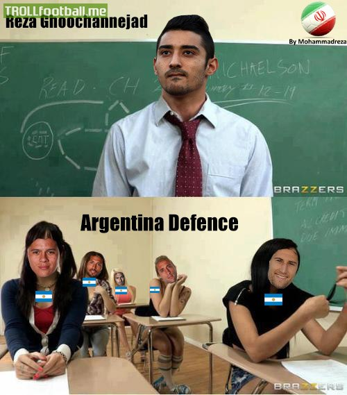Reza vs Argentina Defence