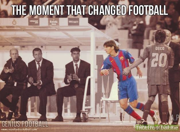 Today in History  : Messi makes his debut !