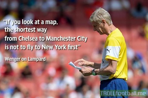 Arsène Wenger on Lampard joining Manchester City FC