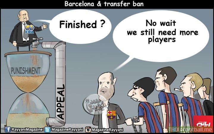 Fc Barcelona And The Transfer Ban Troll Football