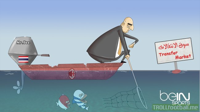 Cartoon : Galliani fails to sign Jackson Martinez and Kondogbia