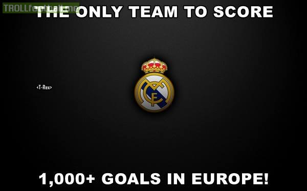 Real Madrid are only team to score 1000+ goals in Europe !