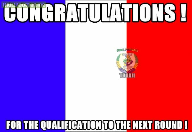 how to say congratulations in french