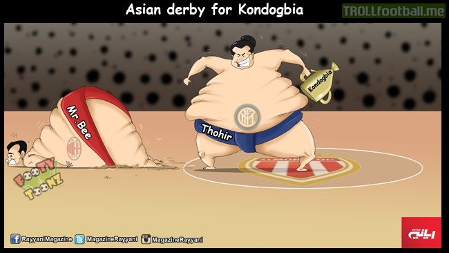 Cartoon : Asian derby for Kondogbia