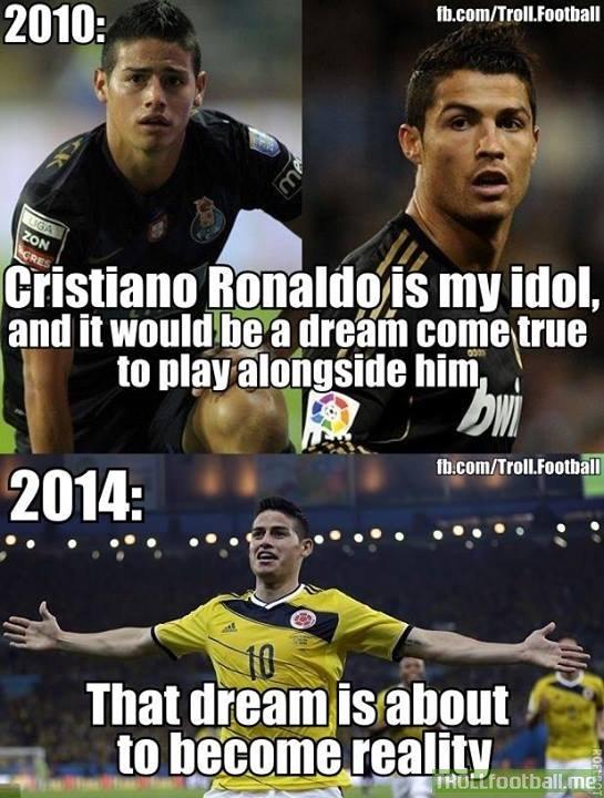 James Rodriguez on Ronaldo!